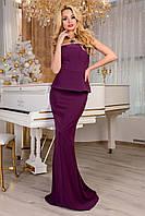 Платье вечернее женское фиолетовое длинное