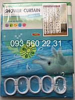 Шторка для ванной комнаты зонтичная ткань , фото 1