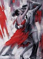 """Алмазная вышивка Жгучее танго 30 х 40 см (арт. FS361) серия картин """"Чувства"""""""