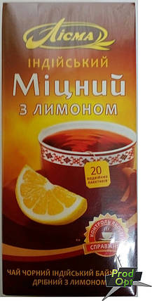 Чай Лісма Міцний з лимоном 20 пакетів, фото 2