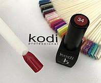 Гель лак kodi professional № 34 (классический бордовый, эмаль) 8 мл., фото 1