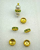 Разделители для бусин Preciosa (Чехия) Peridot