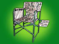 Раскладное кресло - стул туристический Рыбак с полочкой для отдыха и рыбалки