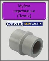 Муфта 63х40 ВН Wavin Ekoplastik полипропиленовая, фото 1