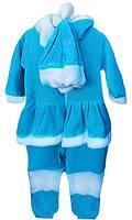 Детский костюм Снегурочки, размеры: 20-24, цвет голубой
