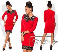 Платье облегающее из креп-дайвинга со вставками пайетки размер 42-48