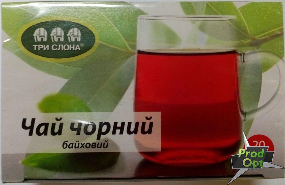 Чай чорний Цейлонський Три Слони 20 пакетів