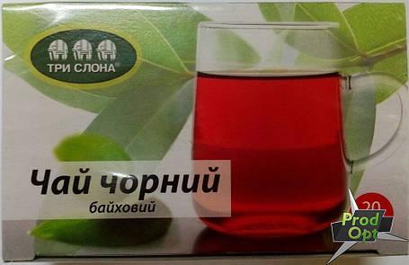 Чай чорний Цейлонський Три Слони 20 пакетів, фото 2