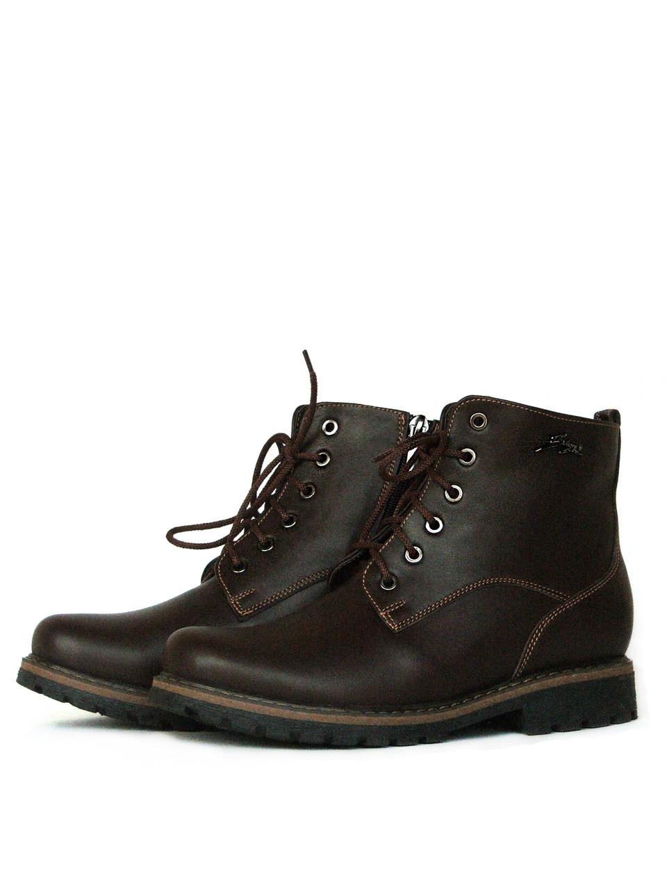 Зимние коричневые ботинки женские