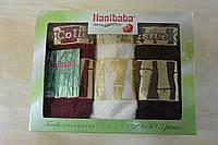 """Набор из 3-х кухонных махровых полотенец  в коробке """"Hanibaba"""" 30x50   Exsklusive bamboo крем"""