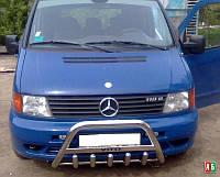 Защита переднего бампера Mercedes Vito w638, Кенгурин Мерс Вито