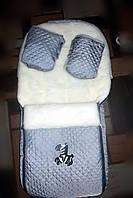 Конверт зимний на меху в санки или коляску+муфта рукавичками, фото 1