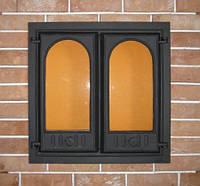 Каминная дверца 400 SVT, чугунное печное литье, фото 1