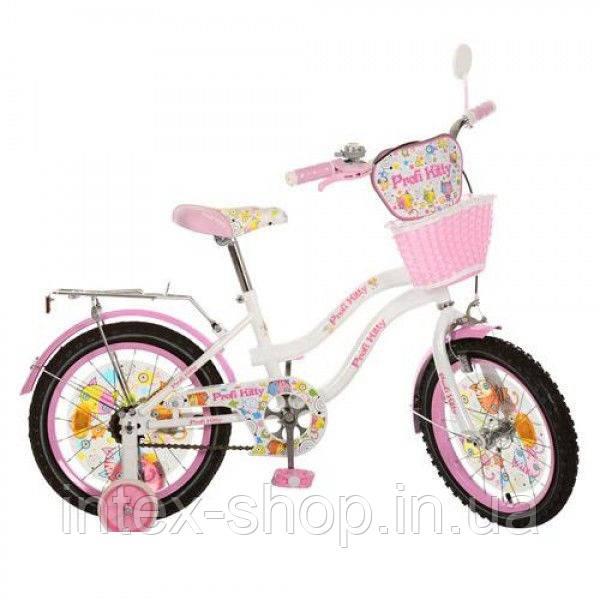 Детский велосипед PK1664G-B Kitty,бело-розовый 16 дюймов