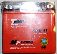 Мото аккумулятор 12v5a.h. Оранжевый ( размер JAWA ) ТММР