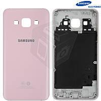 Задняя панель корпуса для Samsung Galaxy A3 A300, розовая, оригинал