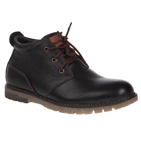 Купить Ботинки мужские Konors (коричнёвые, зимние, удобные, модные ... 621bb8b47bc
