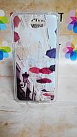 Бампер силиконовый чехол для Huawei Y5ii Y5 II с рисунком Зонтики
