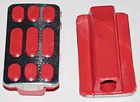 Резинки подножки водителя Дельта красные хром силикон             ТММР