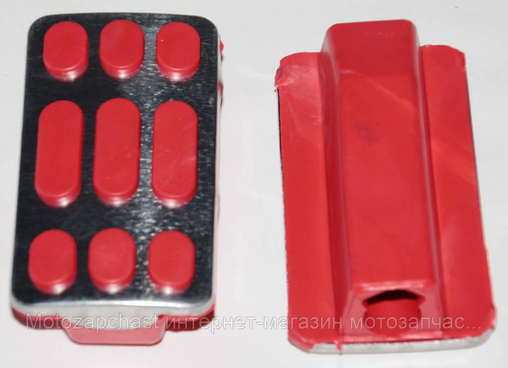 Резинки подножки водителя Дельта красные хром силикон             ТММР - «Motozapchast» интернет-магазин мотозапчастей в Харькове