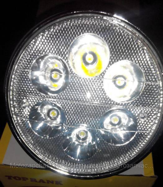 Фара круглая Альфа светодиодная 6 диодов LED