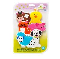 Набор фигурок на присосках для игры малышей в ванной зверушки Ферма