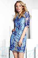 Праздничное платье пайетками. Цвет сине-золотистый.