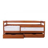 Кровать Тиана Плюс с выдвижными ящиками 90*200, слоновая кость