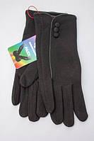 Однотонные женские черные перчатки