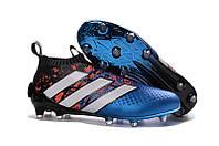 Футбольные бутсы adidas ACE 16+ PureControl FG Core Black/White/Shock Blue