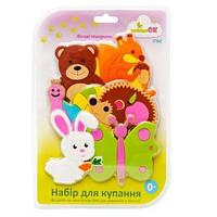 Набор фигурок на присосках для игры малышей в ванной Лесные зверушки