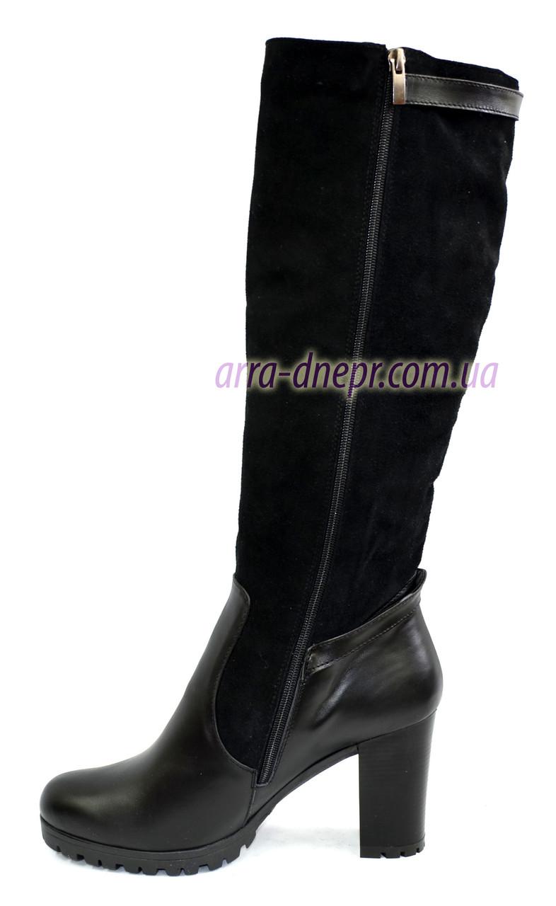 43ccadfd7 ... Женские зимние высокие стильные сапоги, натуральный замш+кожа+камни, ...