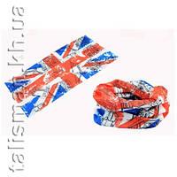 """Бафф (бандана-трансформер) MS-19 """"Флаг Великобритании"""""""