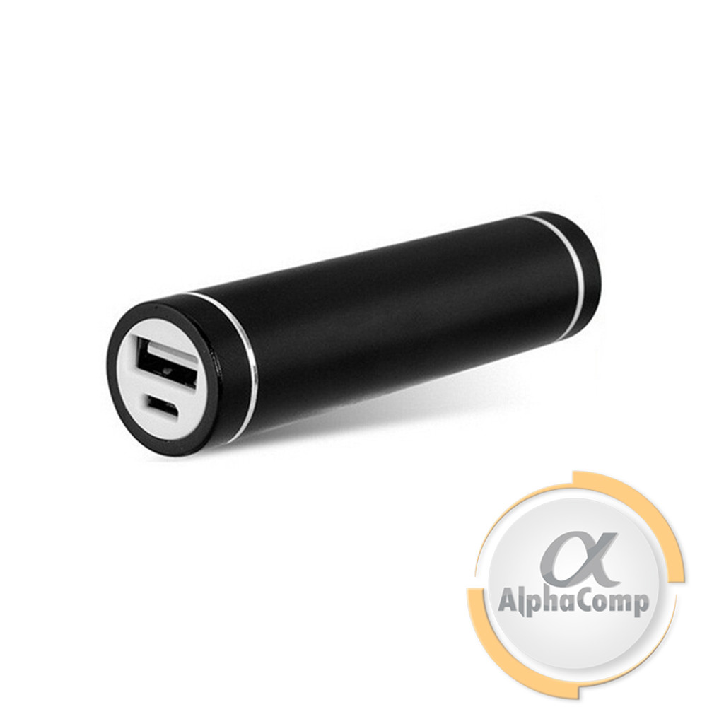 Корпус Power BANK (без АКБ, 1×18650) алюминий, фонарик 3W, black, под пайку E7BL