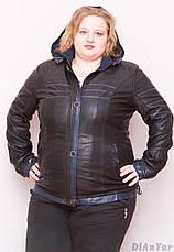 Куртка женская большого размера из экокожи ANDGELINA, Турция, фото 2