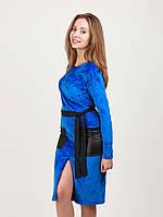 Платье из велюра-это платье которое приносит с собой праздничное  настроение. Съемный пояс cc1b0b536a0b8