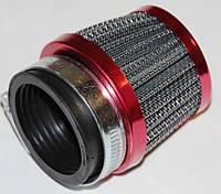 Фильтр нулевого сопротивления d=42mm открытый красный