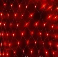 Светодиодная Сетка 200 led-кристалл, прозрачный провод, разные цвета, Харьков
