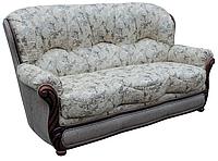 Прямой кожаный раскладной диван