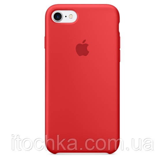 Apple iPhone 7 Silicone Case Red	(copy)