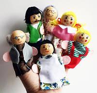 Пальчиковый кукольный театр деревянный