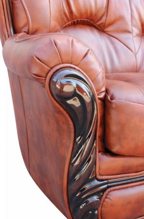 """Прямой кожаный раскладной диван """"Плай-2"""". (145 см), фото 2"""