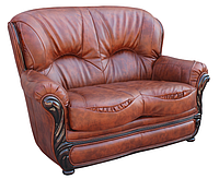 """Прямой кожаный раскладной диван """"Плай-2"""". (145 см)"""