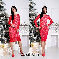 Женское стильное кружевное платье (расцветки)