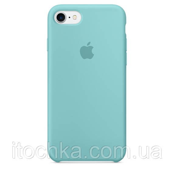 Apple iPhone 7 Silicone Case blue	(copy)