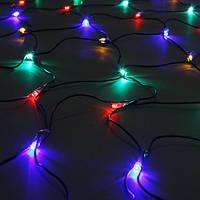 Светодиодная Сетка 160 LED, черный провод, белая, синяя, мультиколор, Харьков