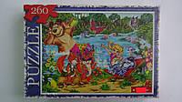 """Пазлы """"Зверята на озере"""",260 ел,Данко Тойс,330х230 мм.Детские пазлы 260 елементов.Пазли дитячі на 260 елементі"""