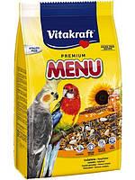 Корм для средних попугаев нимфа (корелла) Vitakraft (Витакрафт) Menu Vital, 1 кг