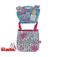 Мини сумочка Simba Color Me Mine с блестками Цветы 6379148
