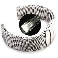 Браслет для часов из нержавеющей стали, миланский стиль, литой. 20 мм, фото 1